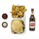 Combo hamburguesa con patatas y bebida